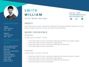 Resume PowerPoint Template Professional 1