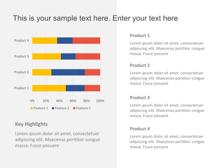 Product Comparison Bar Graphs