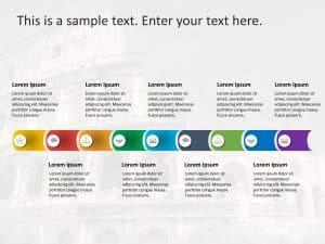 Nine Steps PowerPoint Template