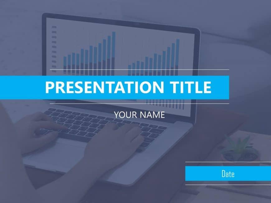 Business Review Presentation Cover Slide