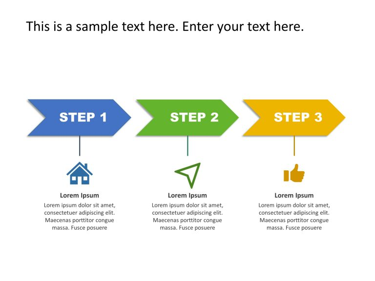 3 Steps PowerPoint Template 16