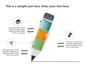 Pencil Business Strategy PowerPoint Template