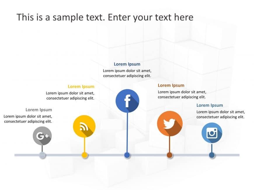 Social Media Market Share PowerPoint Template 9