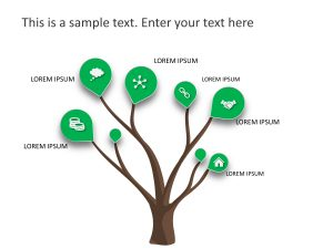 6 Steps Tree Growth PowerPoint Template