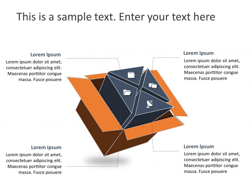 3D Cube Strategy PowerPoint Template