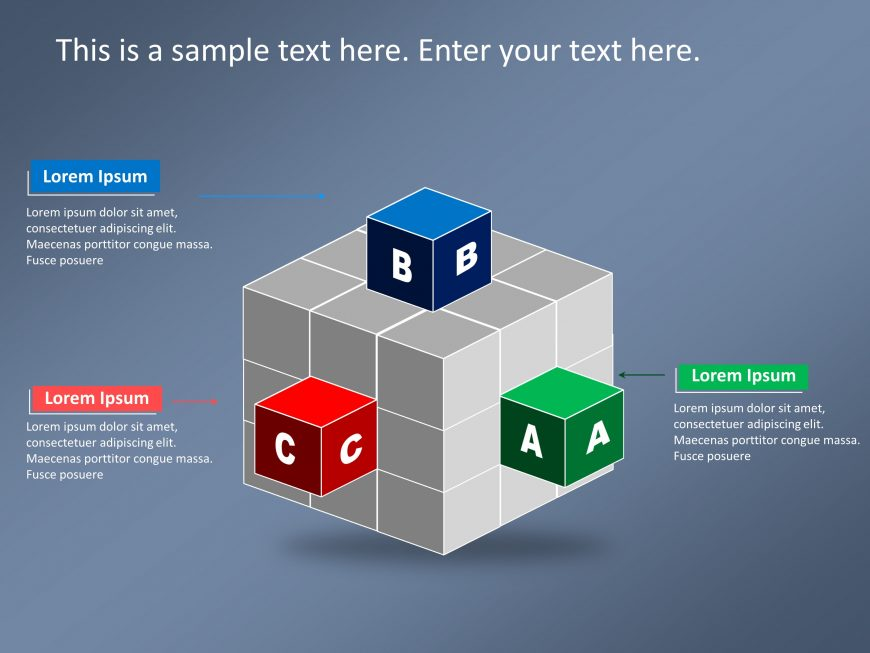 3D Cube Strategy PowerPoint Template 1