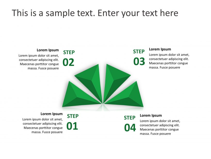 4 Steps Product Features PowerPoint Template