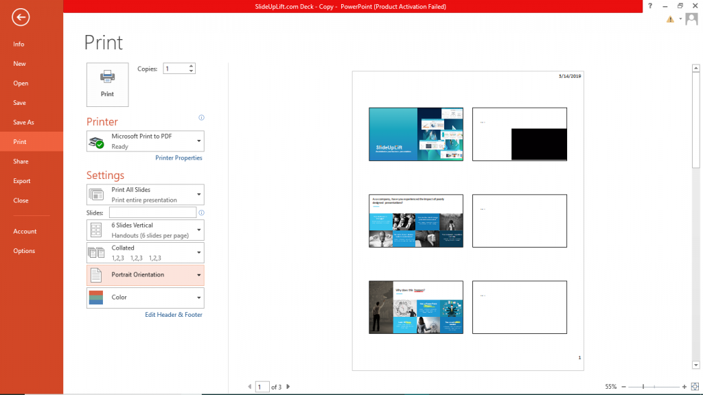 Print Handouts in PowerPoint