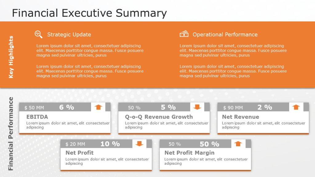 Finance Executive Summary Template