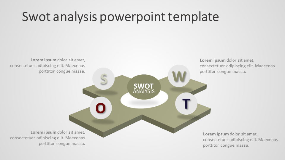 swot analysis template ppt