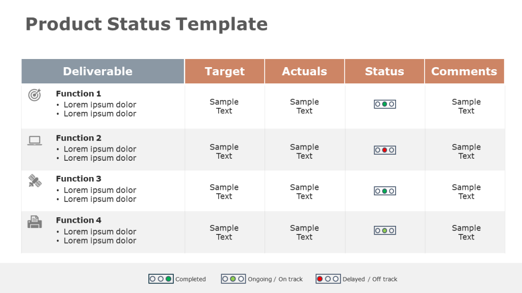 Product Status Update Template