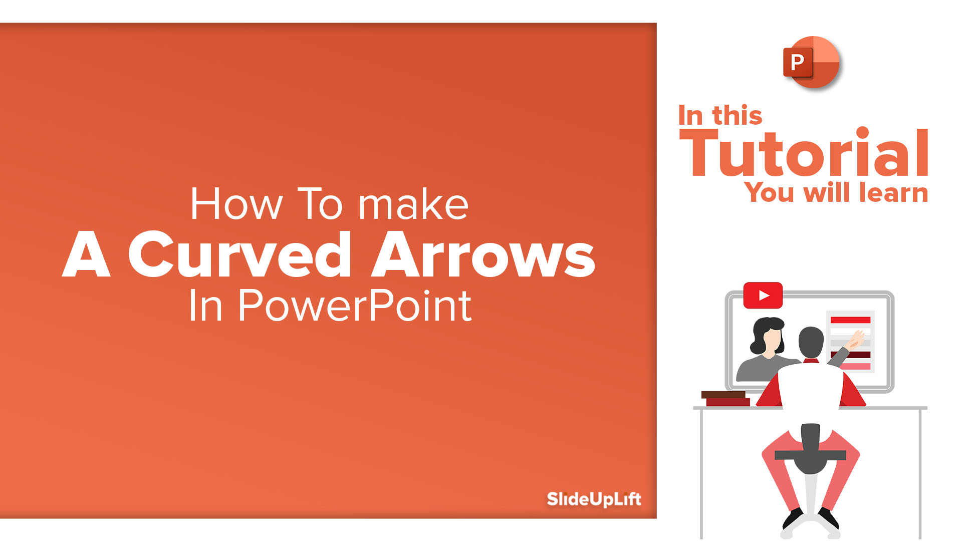 How to make a Curved Arrows in PowerPoint | PowerPoint Tutorial