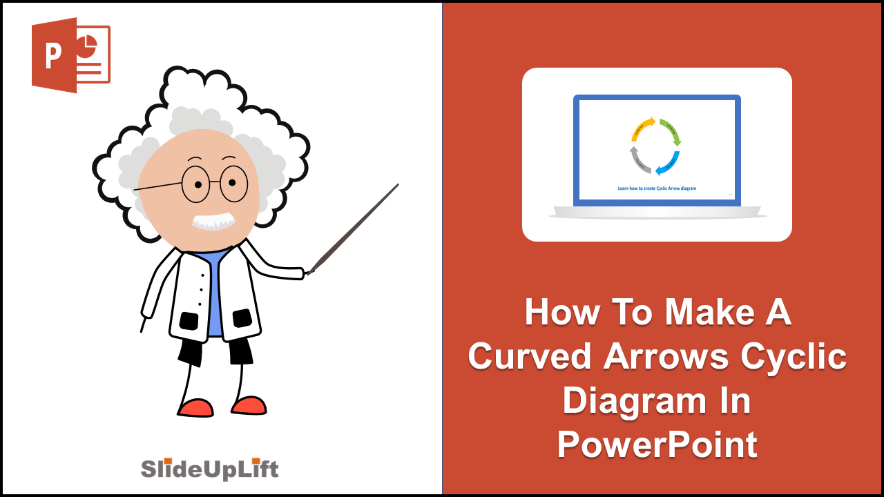 How to make a Curved Arrows Cyclic Diagram in PowerPoint | PowerPoint Tutorial
