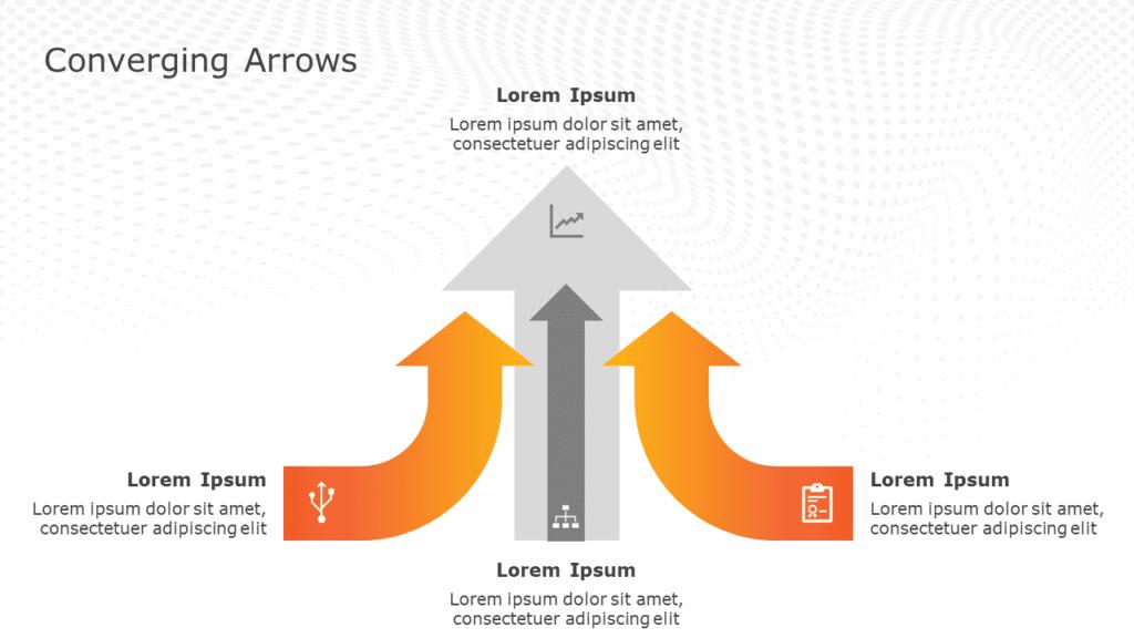 Converging ArrowsPowerPoint Template
