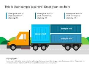 Truck Logistics Powerpoint template