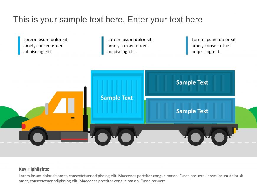 Truck Logistics Powerpoint template