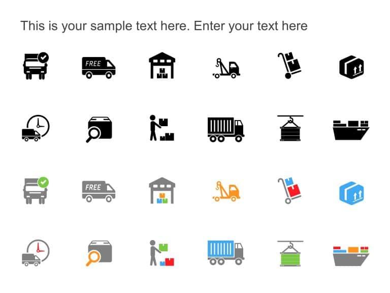 logistics Transport Icons