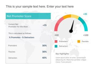 Net Promoter Score Metrics Card