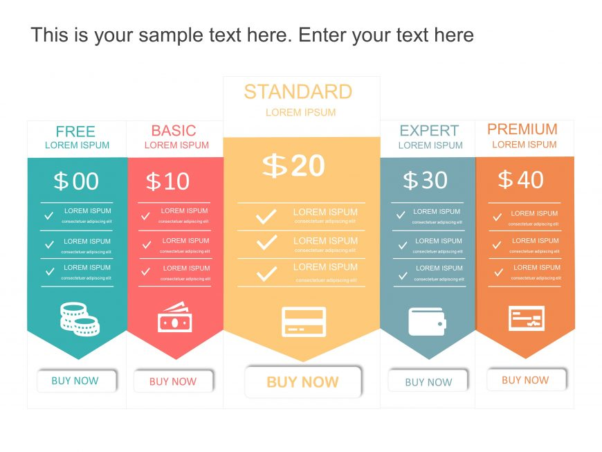 Pricing Options Template