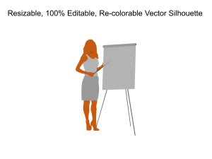 Business Woman Silhouette Powerpoint