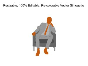 Business Man Silhouette Powerpoint