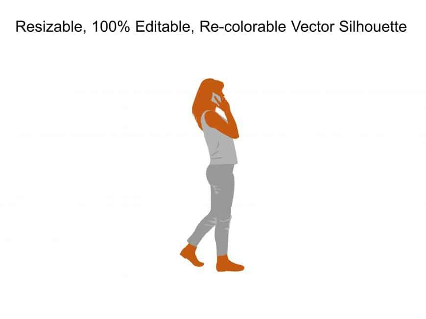 Business Woman Walking Silhouette