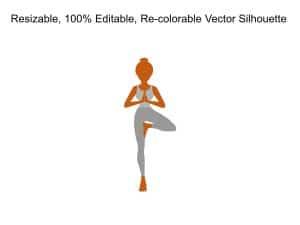 Woman Yoga Silhouette
