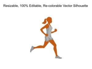 Woman Running Silhouette