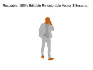 Business Man Phone Silhouette