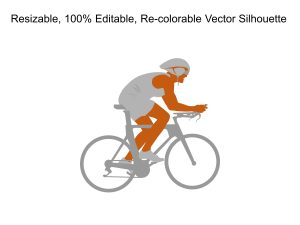 Woman Cycling Silhouette