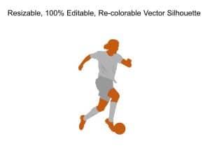 Man Active Football Silhoutte
