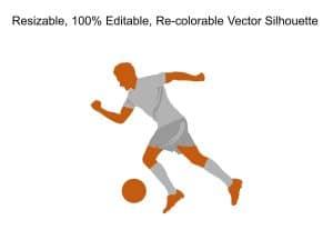 Man Active Football Silhoutte 1