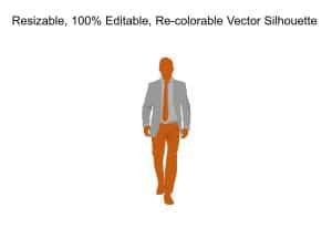 Business Man Walking Silhouette