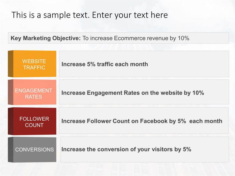 Marketing Objectives Template