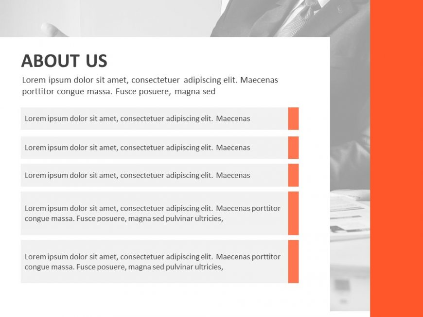 About US PPT Template