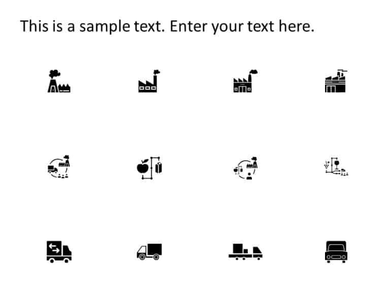 Logistics Supply Chain Icons