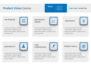 Product Vision Canvas PPT