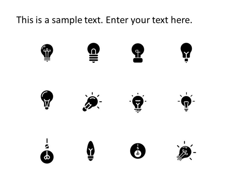 Bulb PowerPoint Icons