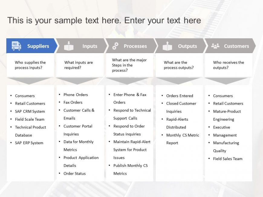 SIPOC Project Management Template