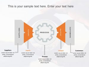 SIPOC PowerPoint Template Gears