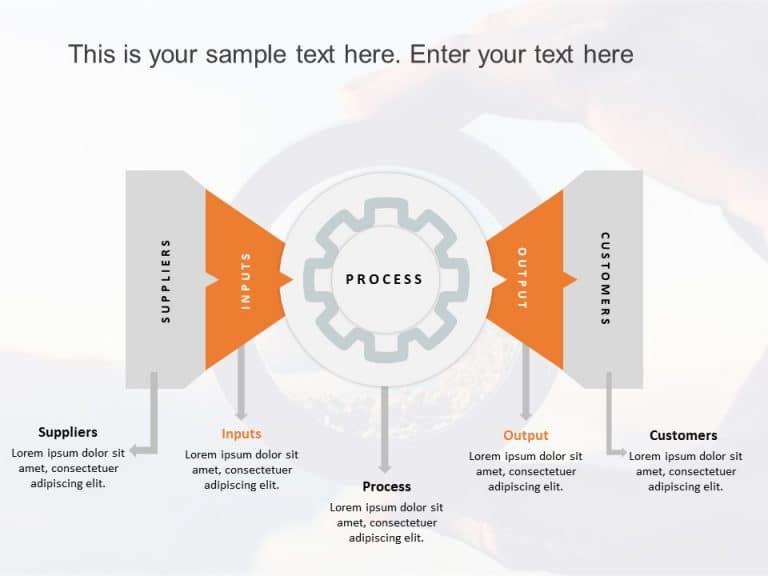 SIPOC PowerPoint Template Gears