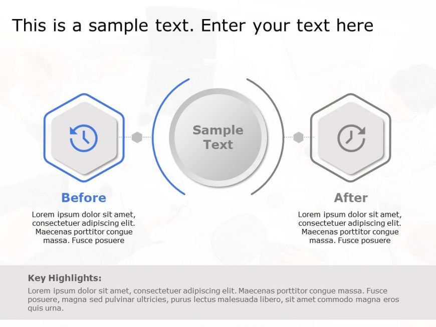 Before After Hexagon Diagram for PowerPoint