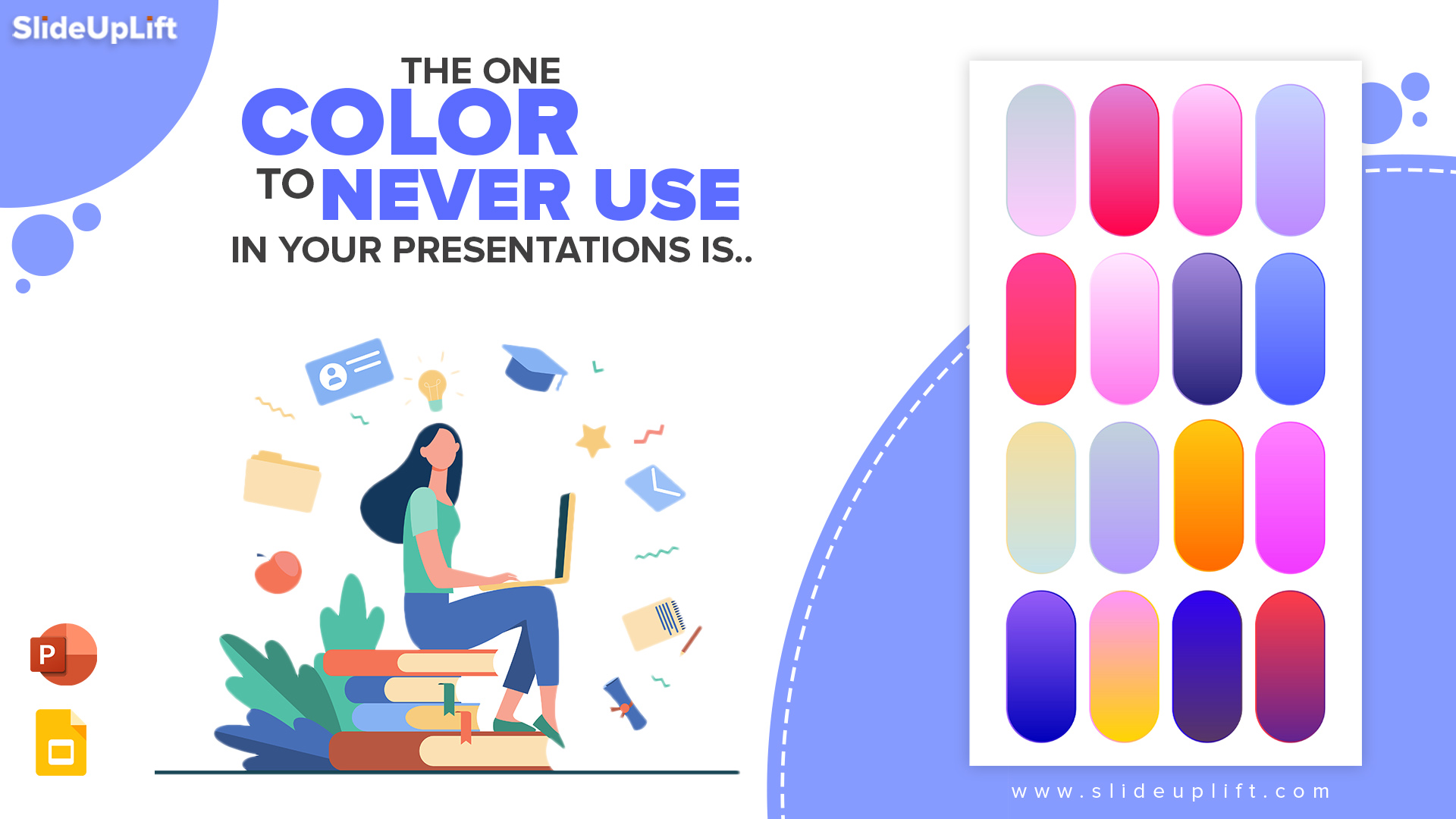 The One Color To Never Use In Your Presentations is....