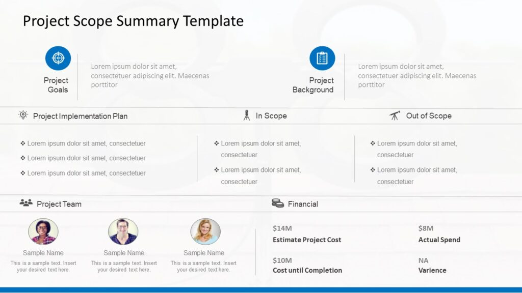 Project Scope Templates