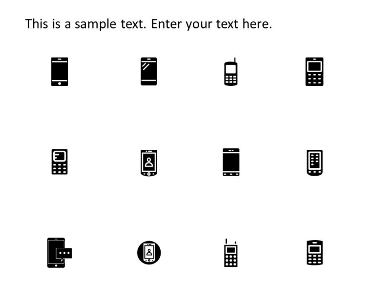 Mobile PowerPoint Icons