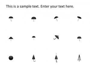 Umbrella PowerPoint Icons