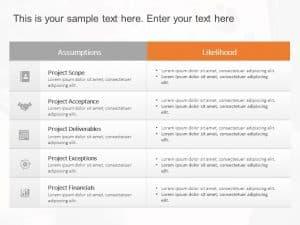 Project Assumptions PowerPoint Template