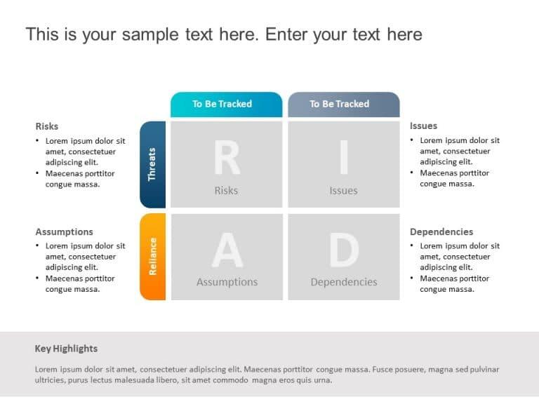 RAID Matrix PowerPoint Template