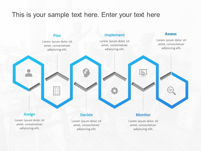 Project Planning Hexagon Template