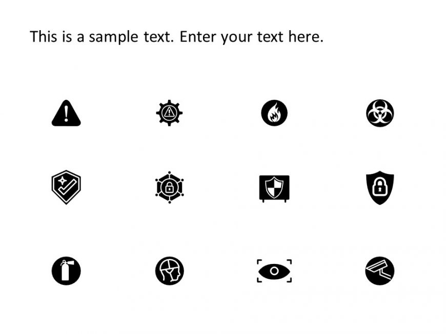 Risk Safety PowerPoint Icons